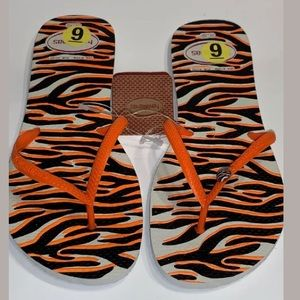 Havaianas Orange and white flip flops